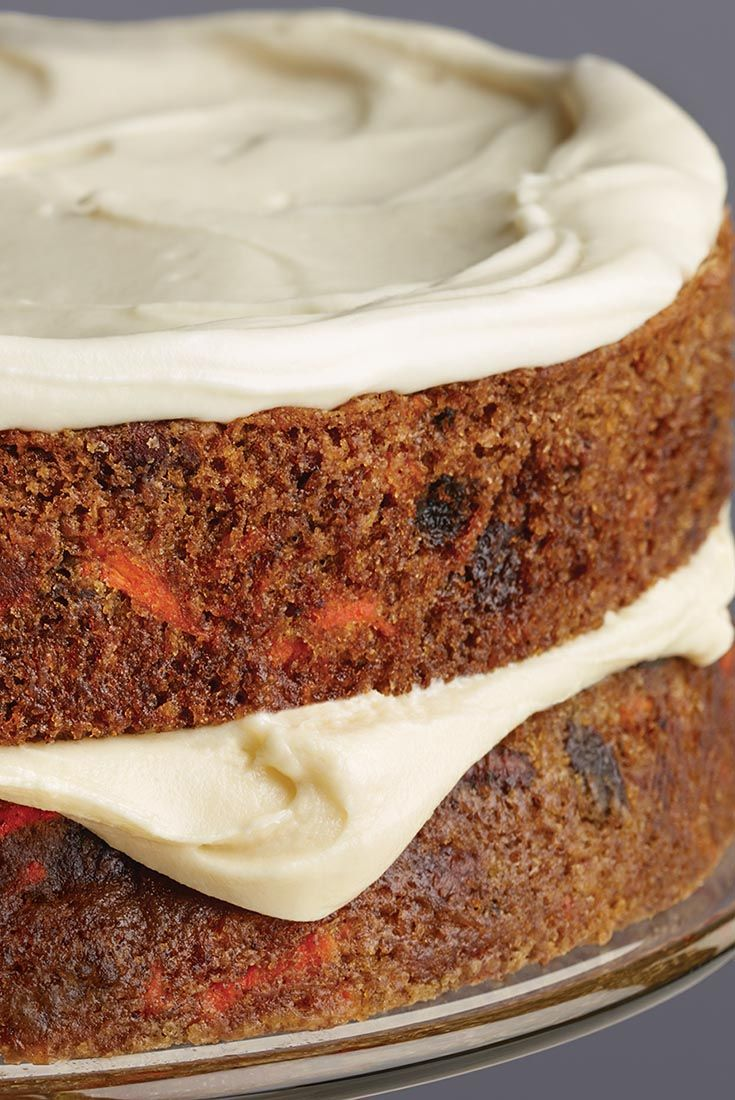 King Arthur's Carrot Cake Recipe - Moist, dense, and flavorful — who doesn't love carrot cake? Especially when it's topped with rich cream cheese icing. This much-requested recipe is easily customized to taste. Use any combination of add-ins you like, including raisins or coconut; just keep the total of any (or all) additions to 1 1/2 cups.
