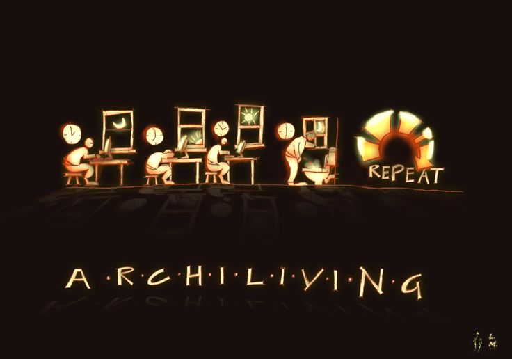 """ARCHILIVING"" The life of an architecture student. Pencil art was done by Lulama Manzana and rendered by Rashin!"