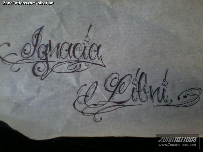 dise o de nombres letras ignacia tatuajes letras y