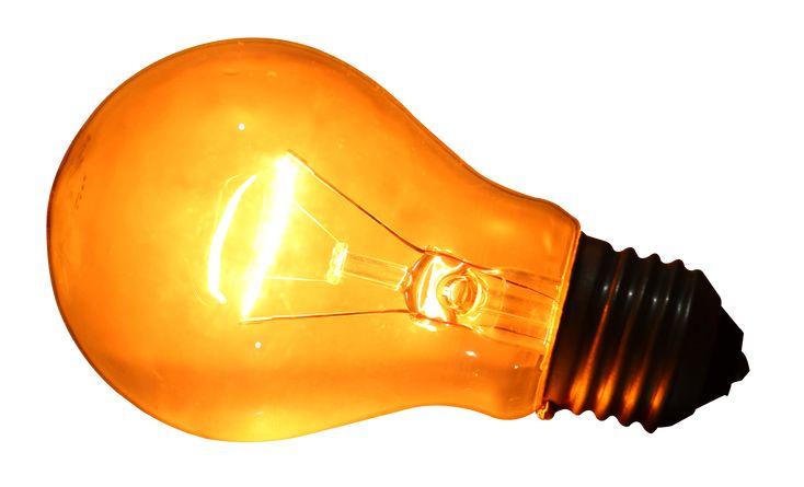 Glowing Yellow Light Bulb Png Image Light Bulb Bulb Png