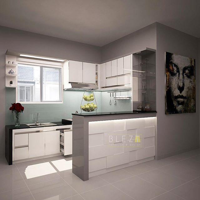 Lovely white kitchen for our lovely client @diannoviza, makasi banyak mba 😊 udah percaya sama @bleztinterior 😁😘 👉Desain vs Photo 👈 - Whatsapp Blezt 0816606879 - #blezt #bleztdesign #3dsmax #vray #render #granite #glassbacksplash #plywood #mydesign #izzadesign #bleztproduction #kitchensetjogja #interiordesign #homedecor #interiorjogja #yogyakartacity