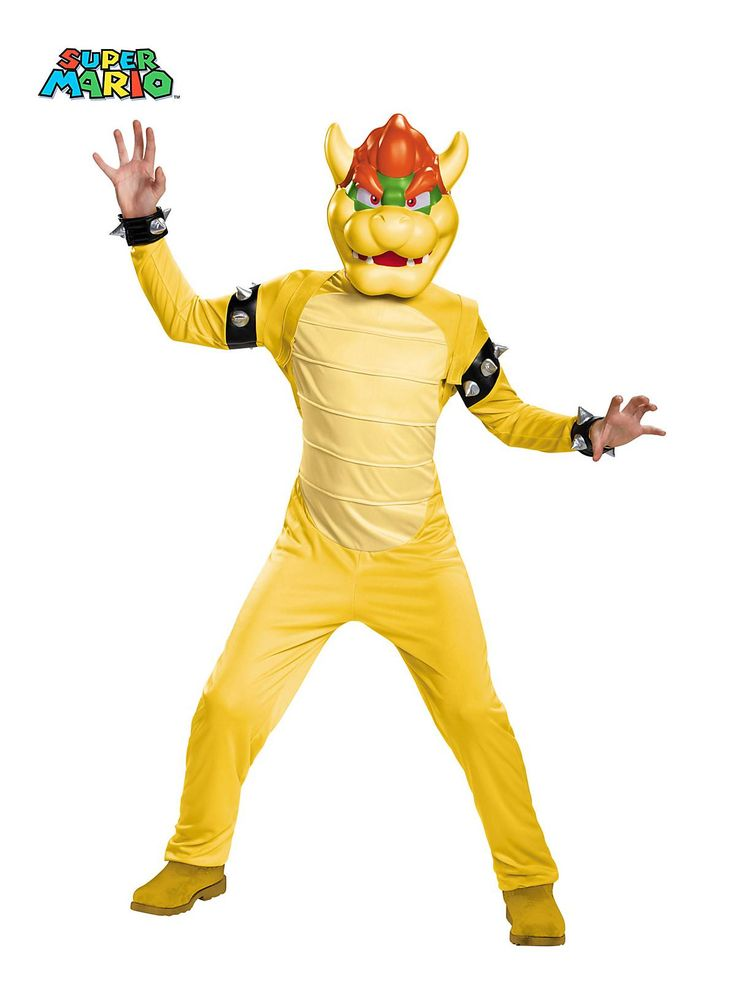 Boys Super Mario Brothers Bowser Deluxe Costume | Wholesale Video Games Costumes for Boys