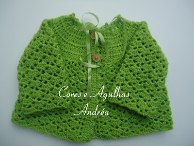 Casaquinho Gustavo - Casaquinho de Bebe em Croche  - Free Pattern