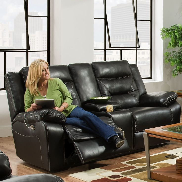 Charlottesville Double Motion Console Reclining Loveseat