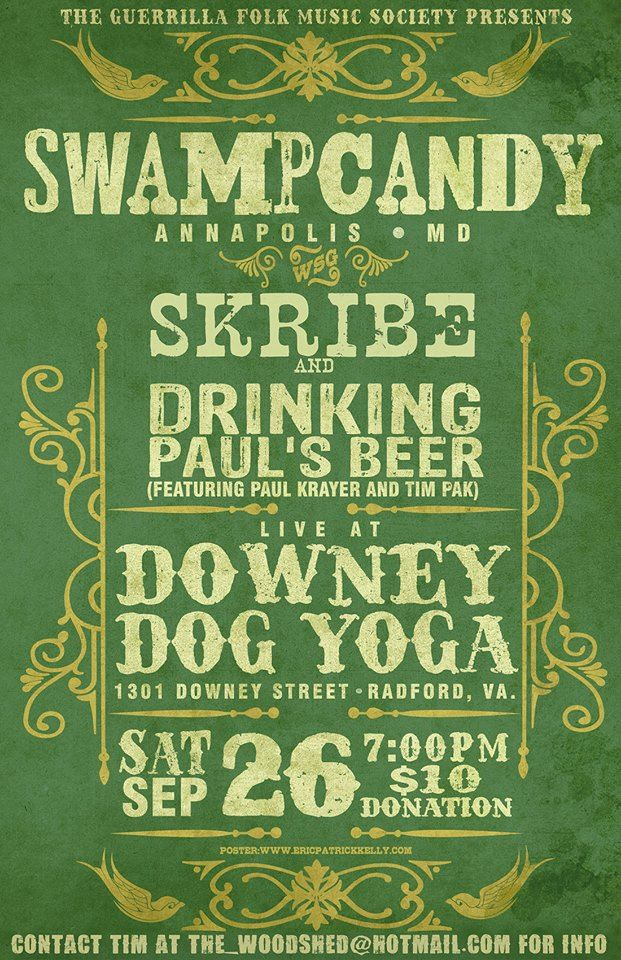 Guerrilla Folk Music Society presents Swampcandy with