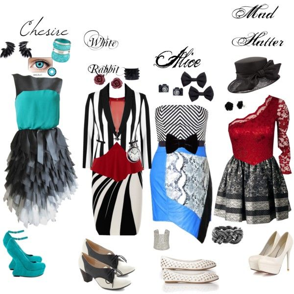 """Alice In Wonderland Inspired Dresses"" by smilesfalcon on Polyvore"