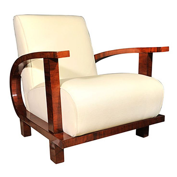 Single Upholstered Armchair on Curved Base, German 1930