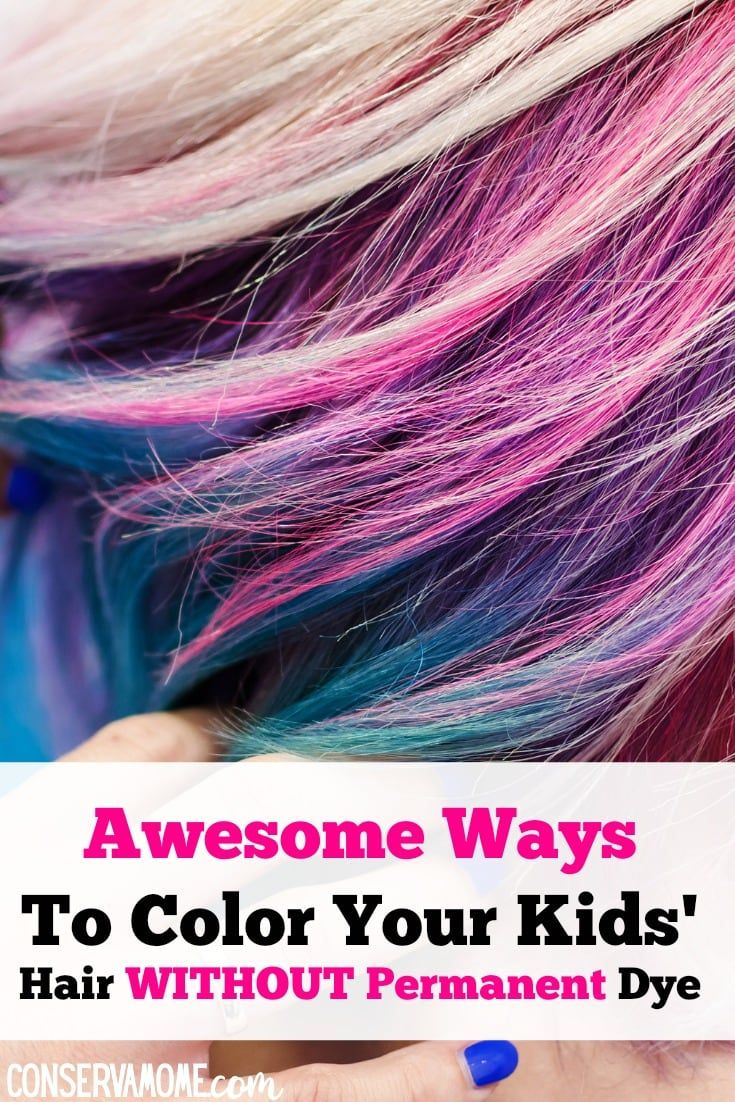 Awesome Ways To Color Your Kids Hair Without Permanent Dye Kids Hair Color Food Coloring Hair Kids Hairstyles