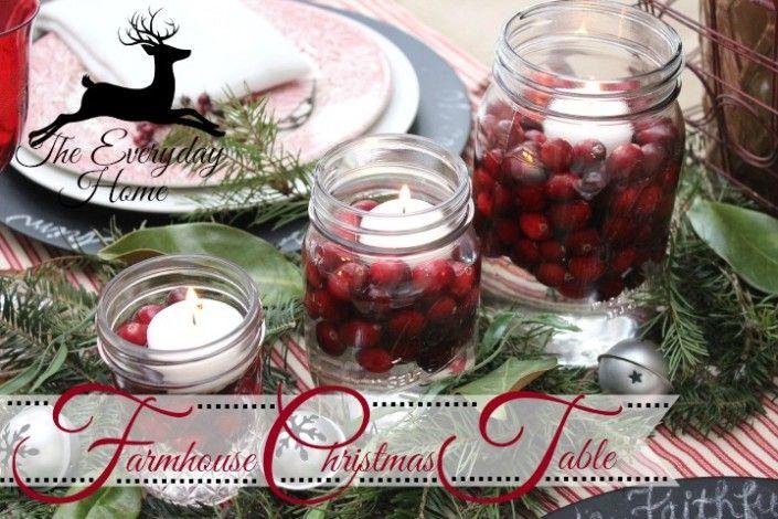 Farmhouse Christmas Tablescape - The Everyday Home