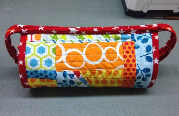Sew Together Bag. DIY step-by-step tutorial. Сумочка для рукоделия
