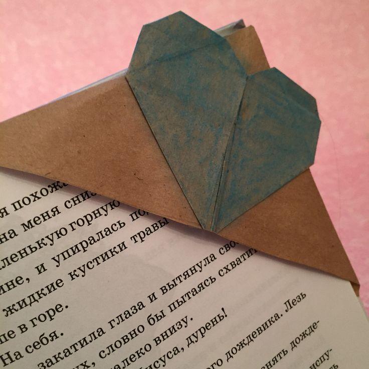 Закладка для книги в технике оригами.