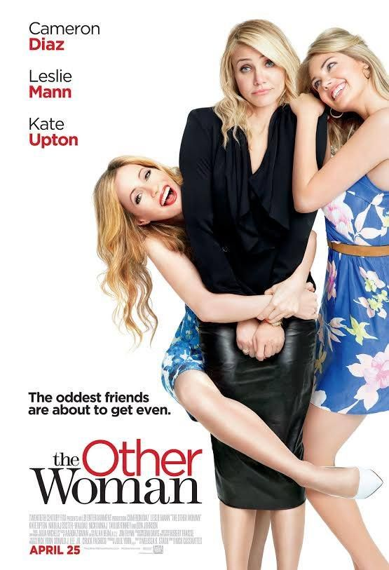 The Other Woman (April 25, 2014) starring Cameron Diaz (the girlfriend), Leslie Mann (the wife), Nikolaj Coster-Waldau (the husband/boyfriend), and Kate Upton (the other girlfriend).  Storyline surrounds a woman discovering her boyfriend is married, she befriends the wife, and another girlfriend to get revenge on this man, the husband/boyfriend. Directed by Nick Cassavetes. Poster - #163748