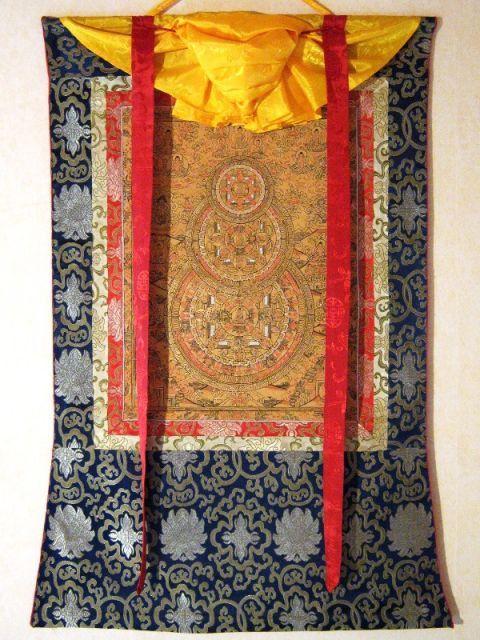 3 Buddhas mandala thangka