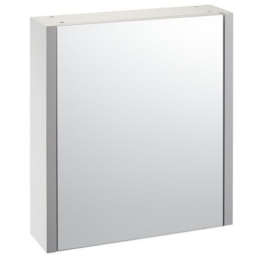 OpenSpace 600 mirror wall cabinet - white gloss 600mm wide, 700mm high and 160mm deep.