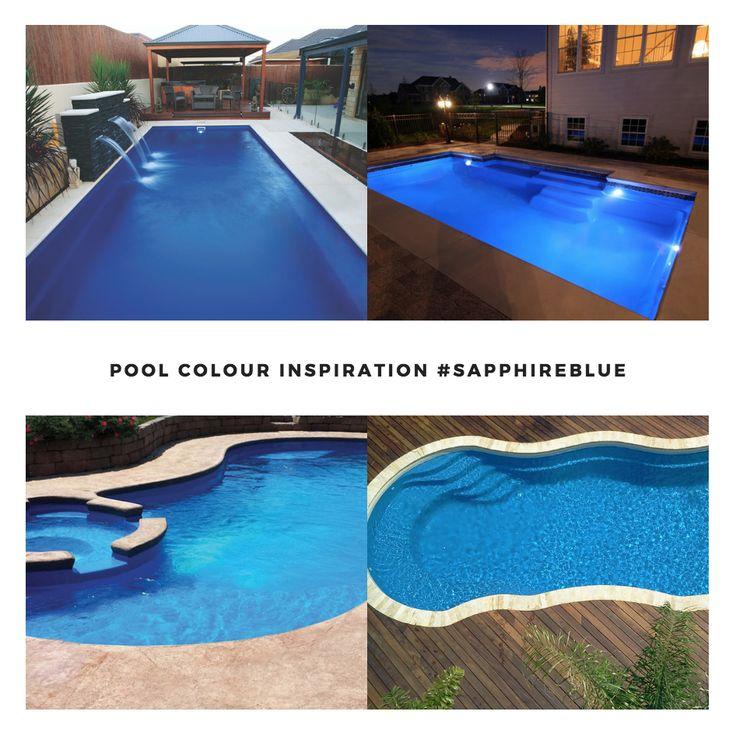 Leisure Pools Smart Colour Range - Sapphire Blue  #lifeofleisure #leisurepools #swimmingpools #lifestyle #love #summer #inspo