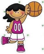 A child playing basketball.