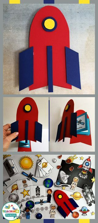 Try these fun vocabulary activities for Space Week - includes foldables, craftivity and center activities.