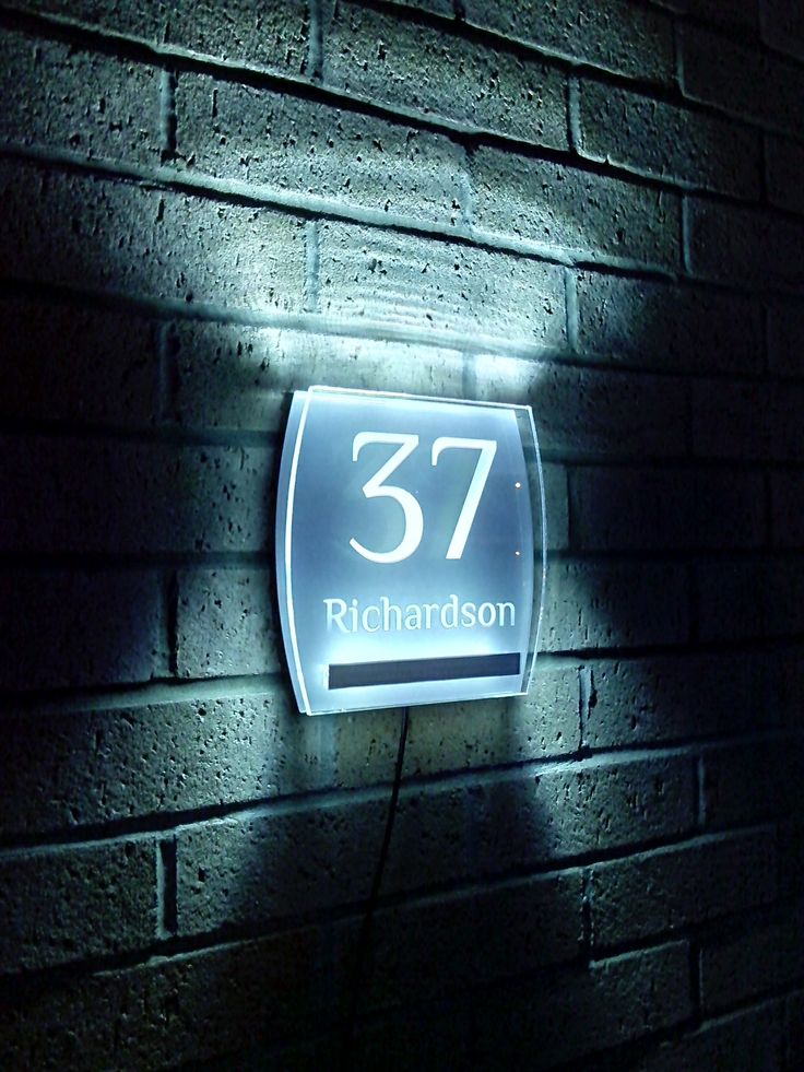 Best 25 Illuminated House Numbers Ideas On Pinterest