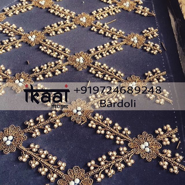 """71 Likes, 2 Comments - Ikaai Designs (इकाई) (@ikaai_designs) on Instagram: """"Let your saree give some elegant look with designer blouse. Designer Blouse with Beads and Zardosi…"""""""