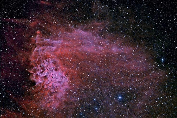 AE Aurigae et la nébuleuse de l'étoile flamboyante