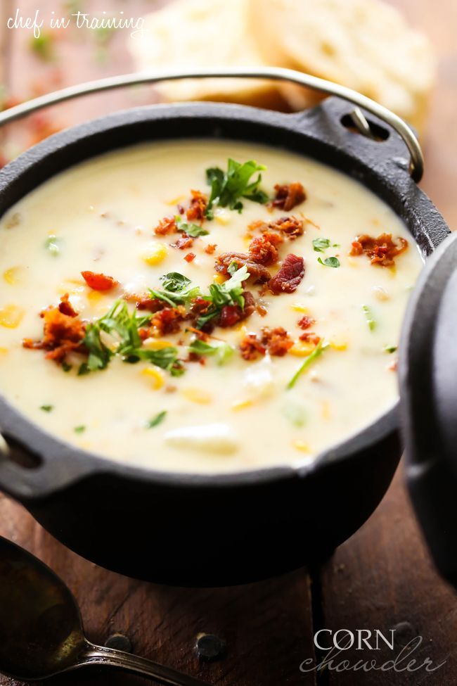 Corn Chowder... This recipe is PACKED with flavor and is a family favorite! It will become a new go-to this fall and winter season!
