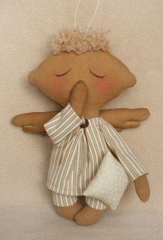 Сплюшка  Набор для шитья куклы Тильда спящий ангел с выкройками и инструкциями как сшить куклу