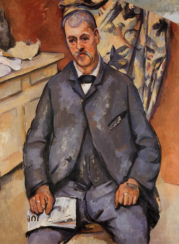 Seated Man - Paul Cezanne  #cezanne #paintings #art