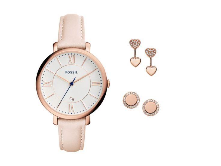 Fossil Jacqueline ES4202SET Box Set Reloj para Dama Color Rosa