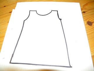 Very simple instructions to make pattern for cross back apron