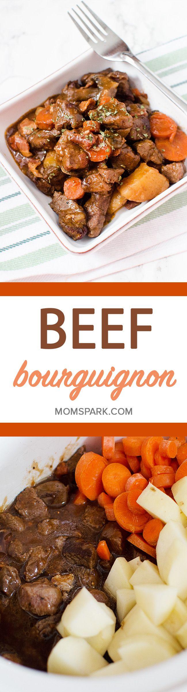 Easy Slow Cooker Beef Bourguignon Recipe