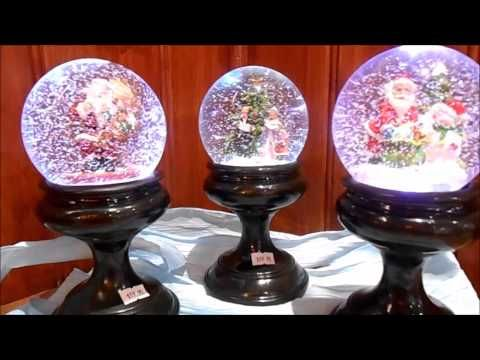 These magic snow globes light up, swirl the snow & play music. Available for sale @ Christmas 360.