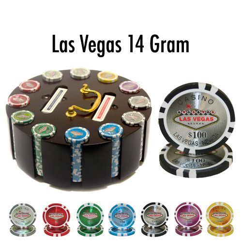 Brybelly PCS-0702R 300 Ct - Pre-Packaged - Las Vegas 14 G - Wooden Carousel