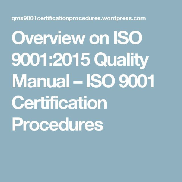 14 best iso 90012015 images on pinterest projects templates overview on iso 90012015 quality manual ccuart Gallery