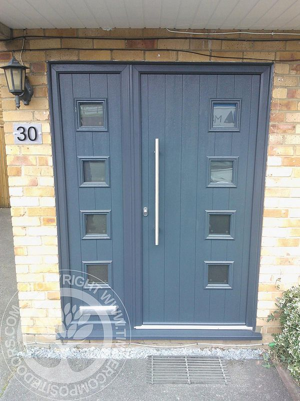Italia Collection Milana Solidor Composite Door By Timber Composite Doors  In Anthracite Grey