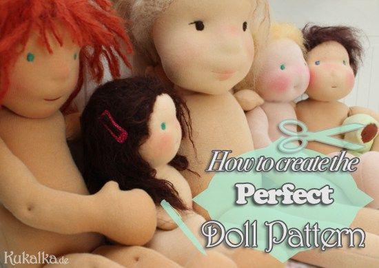 Von Proportionen: Puppe Schnittmuster