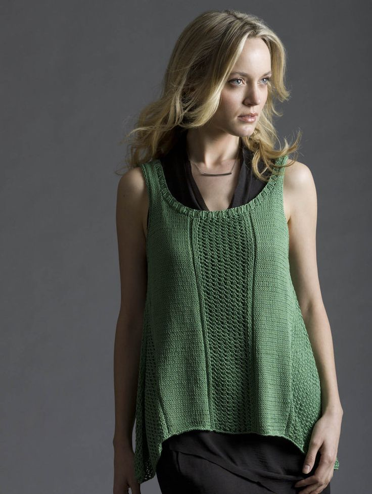 Trapeze Tank in Tahki Yarns Cotton Classic Lite. Discover more Patterns by Tahki Yarns at LoveKnitting. The world's largest range of knitting supplies - we stock patterns, yarn, needles and books from all of your favourite brands.
