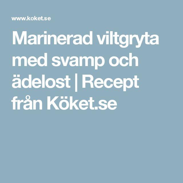 Marinerad viltgryta med svamp och ädelost   Recept från Köket.se