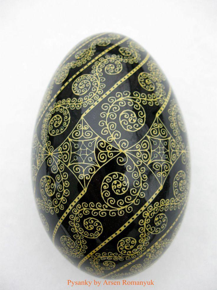 Pysanka,+Real+Ukrainian+Easter+Egg+(goose+egg+shell)+Pysanky.+Hand+made.+Pisanki+