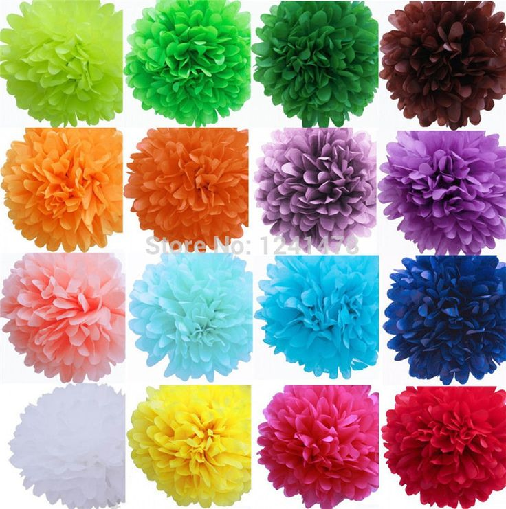 29 цвета Giant цветок бумага шары день рождения стена украшения 20 дюймов ( 50 см ) 12 piece/lot своими руками ткань бумага пом