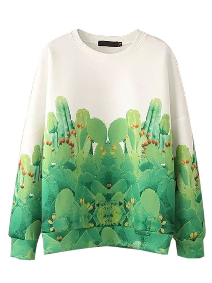 Forest trees long sleeve sweater shirt