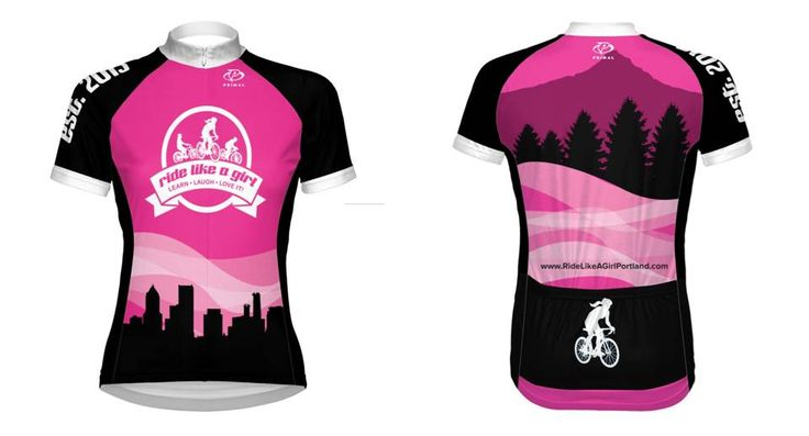 Our first cycling jersey from Ride Like A Girl in Portland, OR. More @ http://ridelikeagirlportland.com/2014/03/06/our-new-jersey-portland-style/