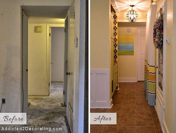 Foyer Laundry Room : Tiny condo laundry room disguised as a hallway washers
