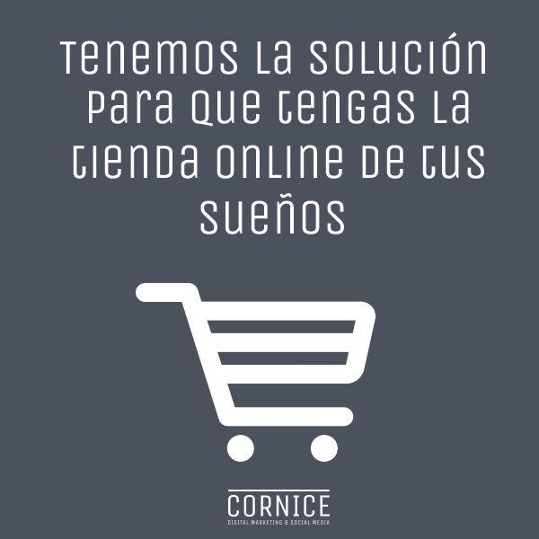 ¿Quieres vender por Internet y no sabes como? ¡Consúltanos! http://bit.ly/1SJB2lf #cornicemedia