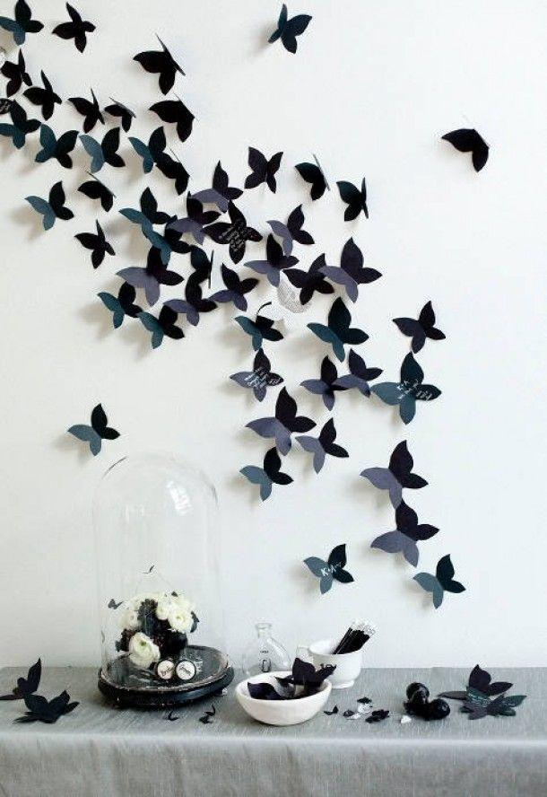 Inspirerend | Muurdecoratie vlinders, zelf maken. Door kimmie0801