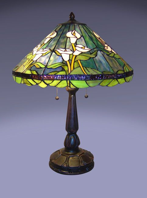 U003cbru003eu003cliu003eCalla Lily Table Lamp Handcrafted Using Methods Developed By Louis  Comfort Tiffanyu003cliu003eIntricate Stained Glass Design And Elegant Bronze Tone  ...