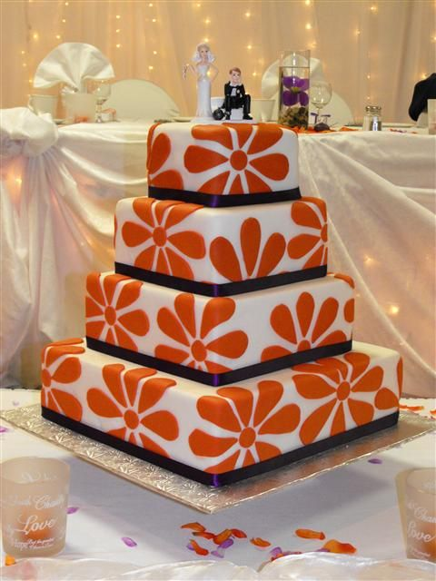 wedding cake with orange flowers indian weddings inspirations orange wedding cake 26931
