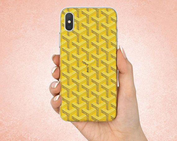 best service 4533a d3ef2 Goyard Yellow case Iphone X Goyard case Iphone 8 Goyard Yellow ...