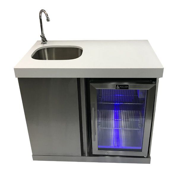 Outdoor Free Standing Bar Center Sink In 2020 Outdoor Kitchen Sink Outdoor Bar Diy Outdoor Kitchen