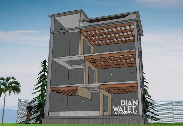 Desain Rumah Walet Minimalis Model Zigzag Dan Perhitungan Biaya