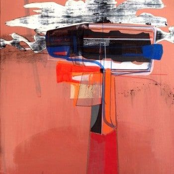 """""""Untitled."""" by Jim Harris. A beautiful original abstract painting full of colour. Brighten up your interiors with a one of a kind original painting from Jim's collection of affordable art. Click to view more on FineArtSeen l The Home Of Original Art. >> Pin For Later <<"""